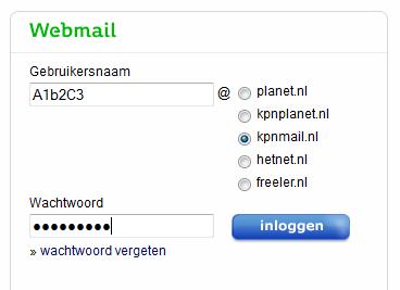 wachtwoord kpn email wijzigen