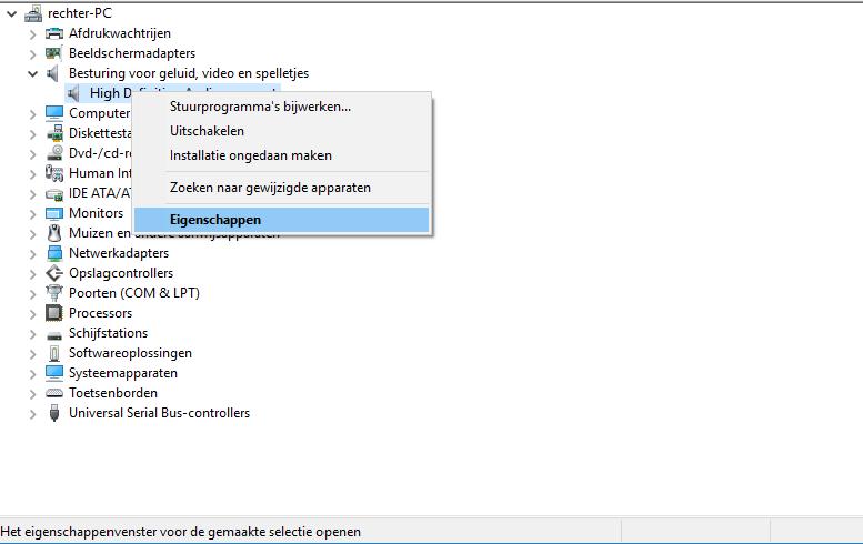 geluid hp laptop werkt niet